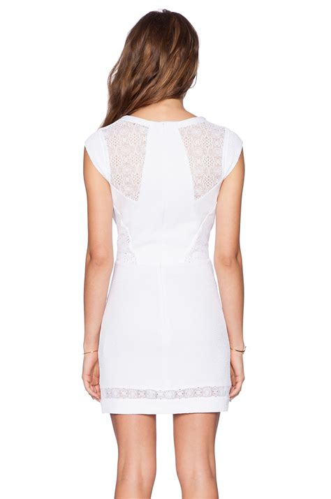 43798 White Trim Dress the kooples lace trim dress in white lyst