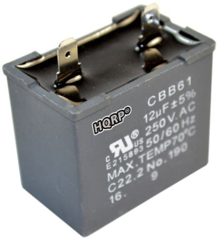 replace capacitor electric motor hqrp 12uf replacement motor capacitor for hotpoint refrigerators jsu21x126 ebay