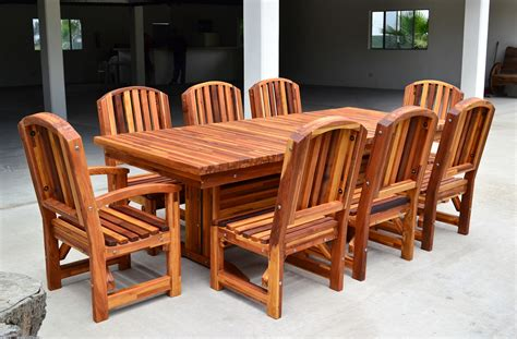 outdoor redwood dining table custom made to order tables