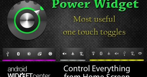power widgets from home screen aw center - Power Widgets For Android