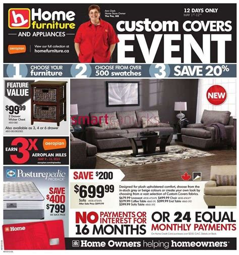 home furniture flyer may 1 to 12
