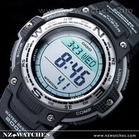 Casio Thermometer buy casio protrek compass thermometer 200m sgw100 sgw 100 1v buy watches casio