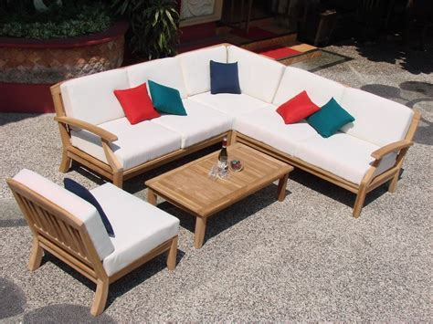 teak sectional sofa teak sectional sofa 8 piece teak sectional sofa set