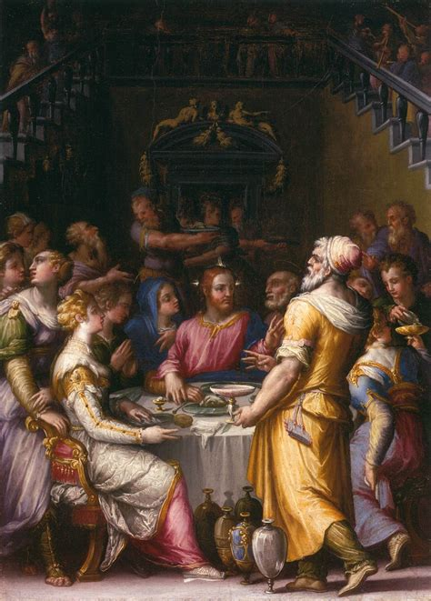 Wedding At Cana Notes by Marriage At Cana 1566 Giorgio Vasari Wikiart Org