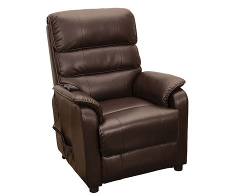 electric leather recliners stratton brown bonded leather electric recliner