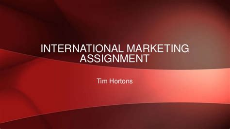 International Marketing Assignment Mba by International Marketing Assignment 1