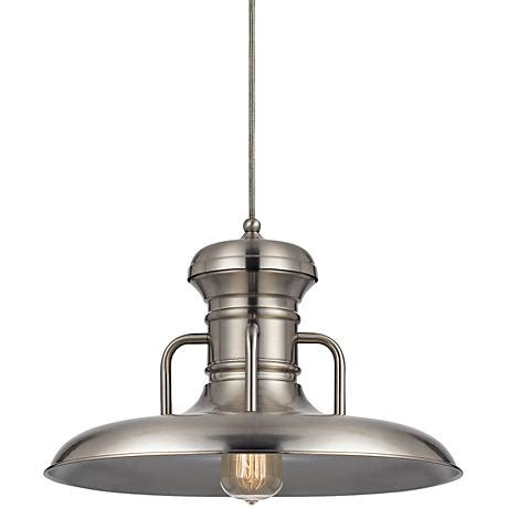 Brushed Steel Pendant Light Winterset 16 Quot Wide Brushed Steel Pendant Light 8n134 Ls Plus
