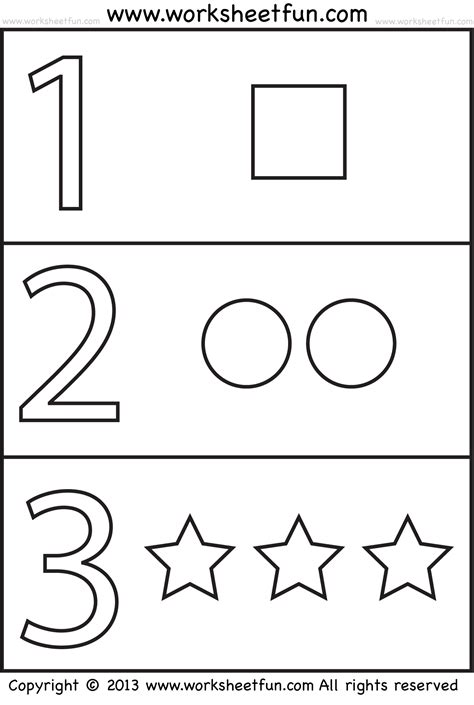 Number Worksheets For Preschool by Numbers And Shapes 4 Worksheets Free Printable