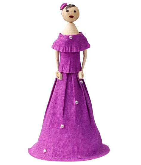 Handmade Paper Dolls - paperiva purple handmade paper doll buy paperiva purple