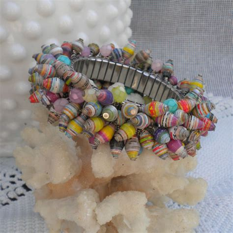 How To Make Paper Bead Jewelry - pretty paper bead jewelry designs
