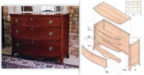 bow front dresser plans bow front chest plans woodarchivist