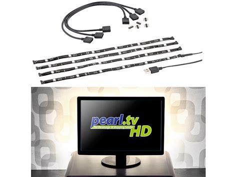 fernsehbeleuchtung led lunartec tv beleuchtung tv hintergrundbeleuchtung m 4