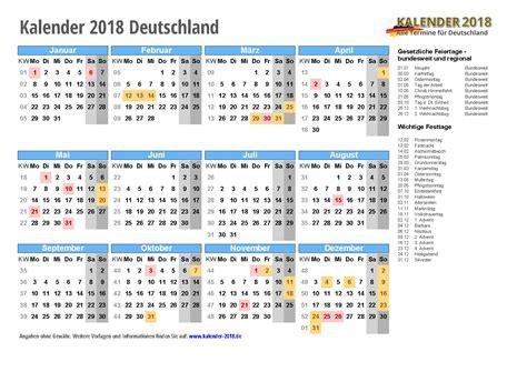 Kalender Sachsen 2018 Kalender 2018 Mit Feiertagen Ferien Kalenderwochen