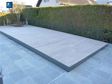 pool deck bauen sliding swimming pool cover and terrace movable pooldeck