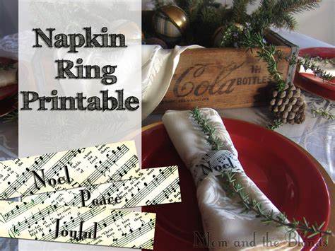printable christmas napkin rings from the carriage house christmas carol napkin rings