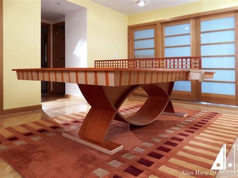 Custom Pong Tables by Custom Made Oak And Padauk Ping Pong Table By Alan Harp Design Custommade