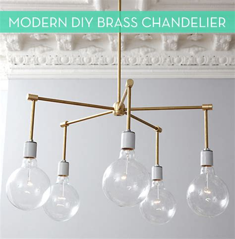 Diy Modern Chandelier Make It Modern Diy Brass Chandelier 187 Curbly Diy Design Decor