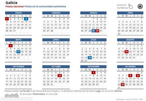 preguntas frecuentes galicia calendario laboral 2018 festivos y puentes del a 241 o que