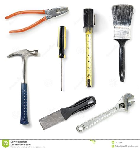 home improvement tools collection royalty free stock