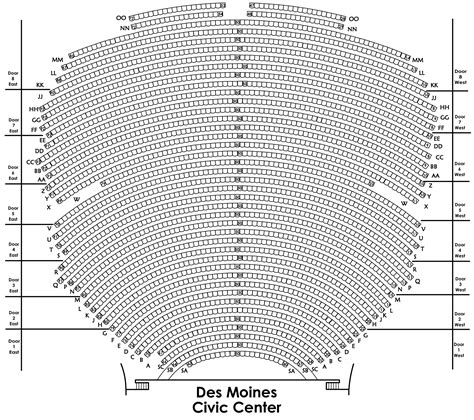 des moines civic center seating guide seating charts des moines performing arts
