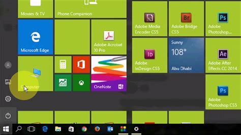 windows 10 tutorial start menu windows 10 creator update basic tutorial customize start