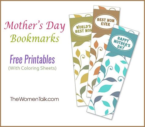 printable bookmarks mother s day 1000 images about free printables on pinterest