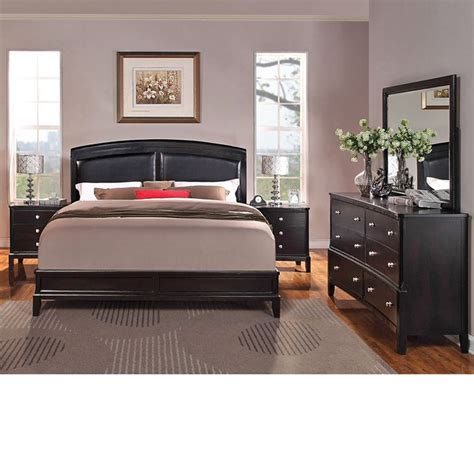 Espresso Bedroom Furniture Dreamfurniture Abram Espresso Finish Bedroom Set
