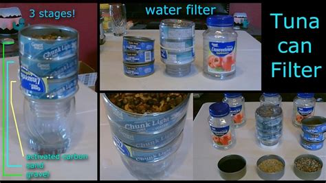 Handmade Water Filter - water filter purifier the quot 3 tuna can quot water