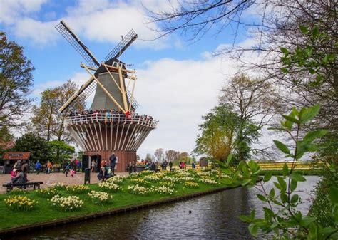 Garden Flower Windmills Keukenhof Flower Garden Colours Of Go 4 Travel
