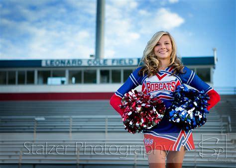 senior girl cheerleader cheerleader stadium senior pictures sports photography