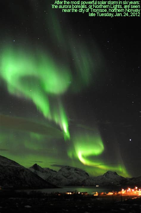 northern lights from solar flare strongest solar in years bombarding earth w
