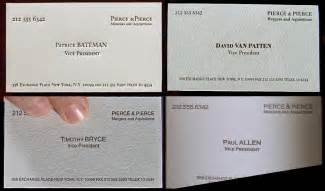 american psycho business card all the business cards from american psycho and there s a