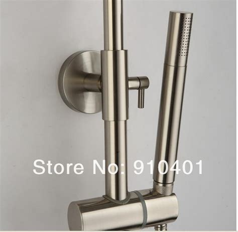 Brushed Nickel Tub And Shower Faucet Set by Wholesale And Retail Promotion Modern Wall Mounted Brushed