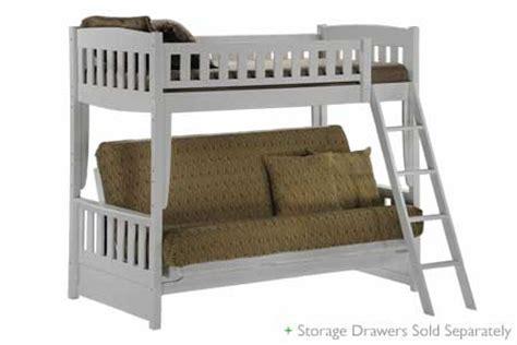 bunk bed futon wood cinnamon white futon bunk bed sofa bed hybrid optional