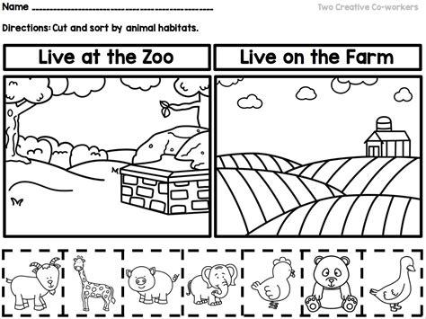 farm animals worksheets for kindergarten pdf