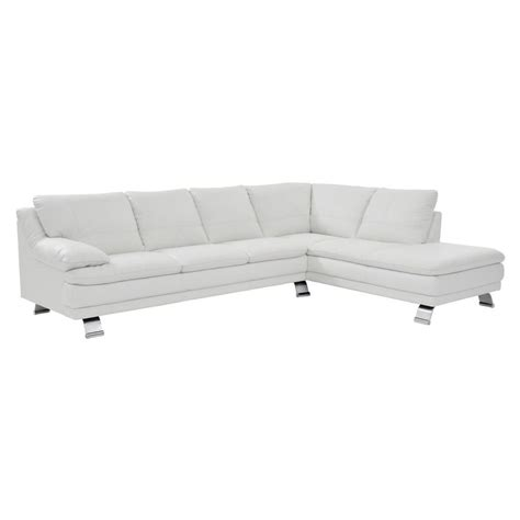 white leather chaise sofa rio white leather sofa w right chaise el dorado furniture