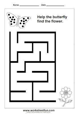 preschool printable maze worksheets preschool and kindergarten mazes laberintos pinterest
