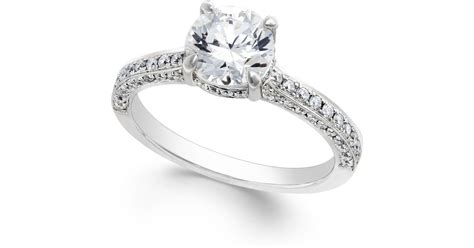 macy s certified engagement ring in platinum 2 1
