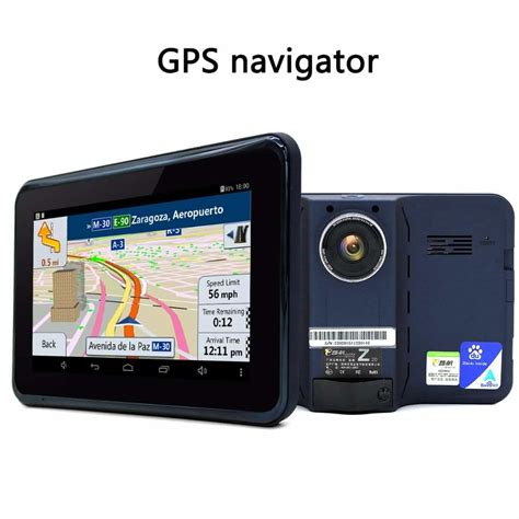 gps android buy junsun 7 inch gps navigation android radar detector with dvr rear