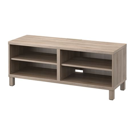 ikea besta tv unit best 197 tv unit walnut effect light gray ikea