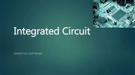 integrated circuit program integrated circuit