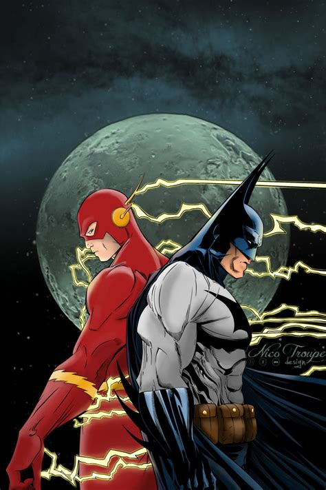 Flash L by Batman And Flash By Trouperdnico On Deviantart