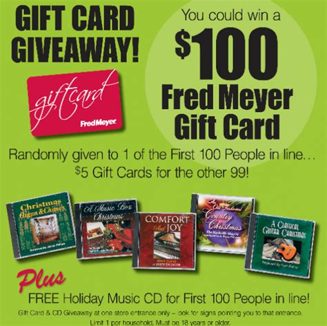 Fred Meyers Gift Cards - fred meyer black friday gift card giveaway