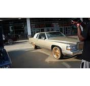 CADILLAC COUPE ON DEM ALL GOLD DAYTONS 90 FRONT  YouTube