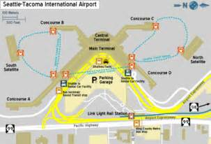Seattle Airport Map by Seatac Map Map3
