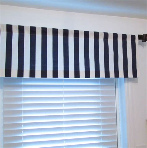 nautical curtain valance nautical vertical stripe valance navy blue white canopy