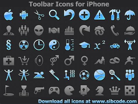 Iphone Icons On Top Bar by Toolbar Icons For Iphone
