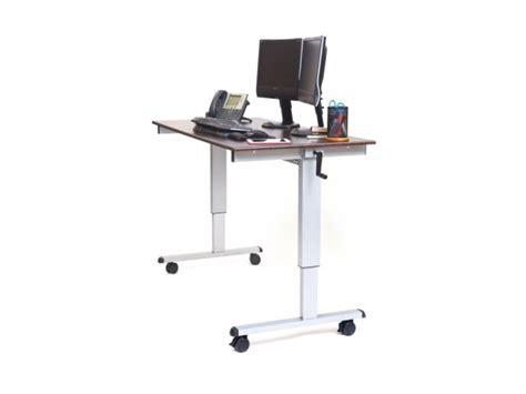 luxor crank standing desk 60 quot computer tables