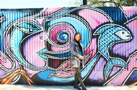 spray painter lismore meets science in new levee mural echonetdaily