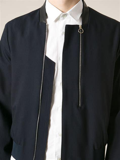 Jaket Anbu Zipper Navy Doubel Zipper 1 paul smith black label zip jacket in blue for
